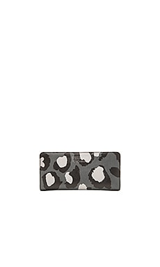 Marc by Marc Jacobs Printed Leopard Tomoko Wallet in Gunmetal Multi