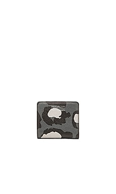 Marc by Marc Jacobs Printed Leopard Emi Wallet in Gunmetal Multi