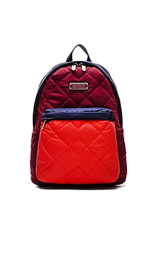 Marc by Marc Jacobs Crosby Quilt Colorblock Backpack in Red Canyon Multi