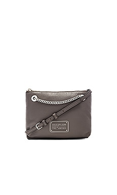 Marc by Marc Jacobs New Too Hot To Handle Doubledecker Xbody Bag in Faded Aluminum