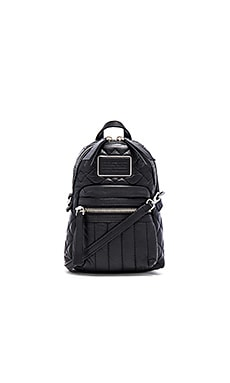 Marc by Marc Jacobs Domo Biker Quilted Cross Biker Backpack in Black