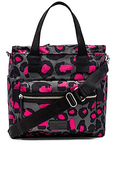 Marc by Marc Jacobs Domo Arigato Printed Leopard Elizababy Tote in Raspberry Sorbet