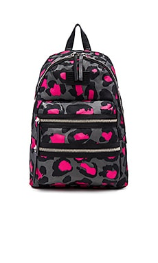 Marc by Marc Jacobs Domo Arigato Printed Leopard Packrat Backpack in Raspberry Sorbet Multi