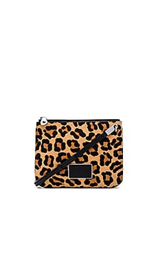 Marc by Marc Jacobs Ligero Leopard Double Percy Crossbody in Black Multi