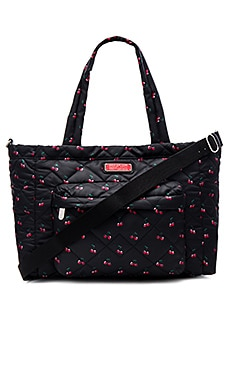 Marc by Marc Jacobs Crosby Quilt Nylon Printed Fruit Elizababy Tote in Cherry Print