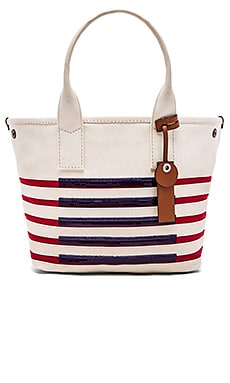 St Tropez Beach Tote in Ecru & Breton Red