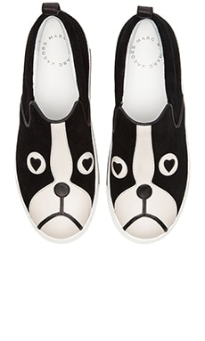 Marc by Marc Jacobs Friend of Mine Shorty Slip On Flats in Black