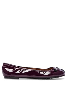 Marc by Marc Jacobs Mouse Patent Ballet Flats in Plum