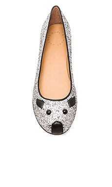 Marc by Marc Jacobs Ballerina in Silver/Black