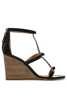Marc by Marc Jacobs Calf Wedge Sandal in Black