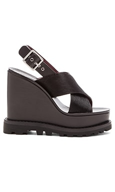 Marc by Marc Jacobs Irving Cow Hair Sandal in Black
