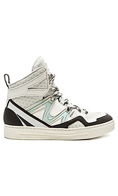 Marc by Marc Jacobs Ninja Hi Top Tech Sneaker in Off White & Black