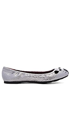 Marc by Marc Jacobs Sacchetto Mouse Flat in Dark Silver
