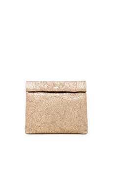 Marie Turnor Picnic Clutch in Antique Gold Foil