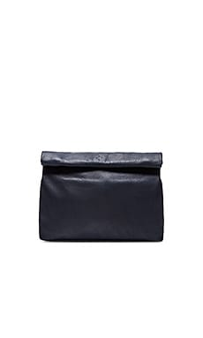 Marie Turnor Lunch Clutch in Pebble Navy