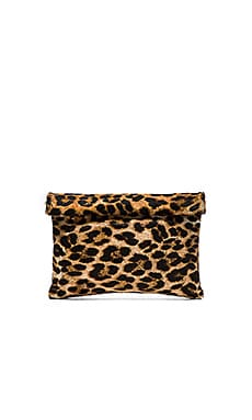 Marie Turnor The Wrap Clutch in Leopard