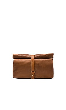 Marie Turnor The Safari Clutch in Tan Latigo