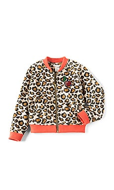 Cherry Patch Faux Fur Leopard Jacket