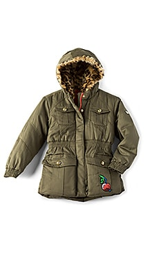 Sequined Cherry Patch Parka