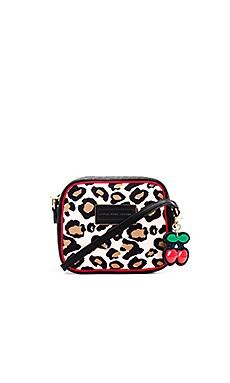 Leopard Cherry Charm Crossbody Bag