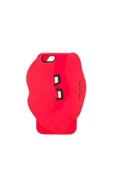Silicone Lips iPhone 6 Case in Rubine Red