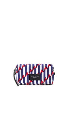 Arrow Head Biker Landscape Pouch en Paris Blue Kiss Multi