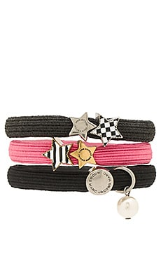 Stripe & Checkerboard Cluster Ponys in Pink Multi