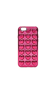 Metallic Heart iPhone 6S Case in Magenta