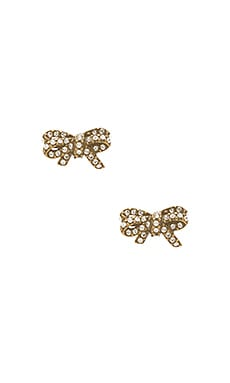 Pave Twisted Bow Stud Earrings