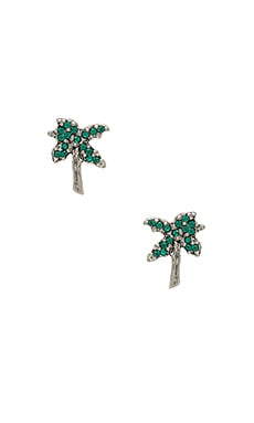 Strass Palm Tree Studs