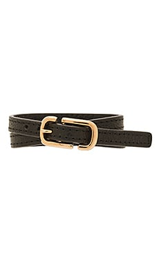 Icon Buckle Double Wrap Bracelet en Noir