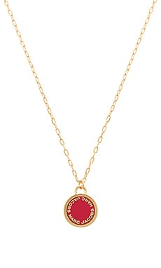 Enamel Logo Disc Pendant in Red