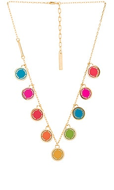 Logo Disc Statement Necklace