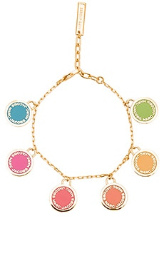Logo Disc Statement Bracelet in Rainbow