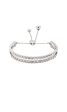 Marc Jacobs Sparkle Friendship Bracelet in Crystal & Antique Silver