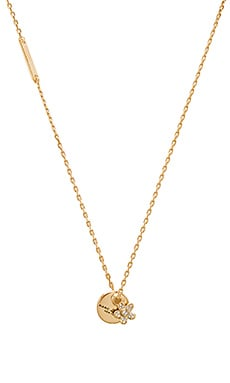 MJ Coin Crystal Pendant Necklace