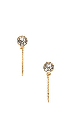 Marc Jacobs Sparkle Chain Cabachon Studs in Crystal & Antique Gold