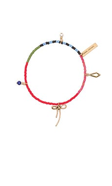 Marc Jacobs Charms Bow Friendship Bracelet in Chili Pepper