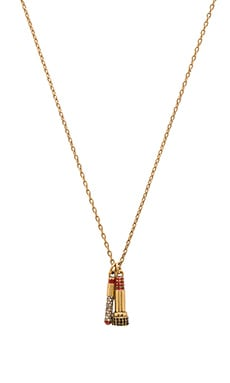 Marc Jacobs Charms Lipstick Necklace in Crystal & Antique Gold