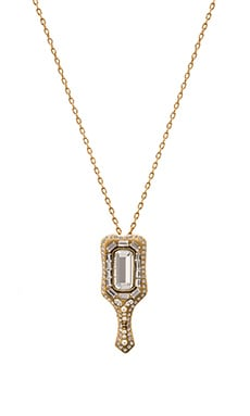 Marc Jacobs Charms Mirror Necklace in Crystal & Antique Gold