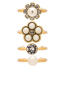 Cabochon Midi Ring Set
