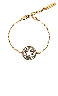 Marc Jacobs Charms Star Bracelet in Crystal & Antique Gold