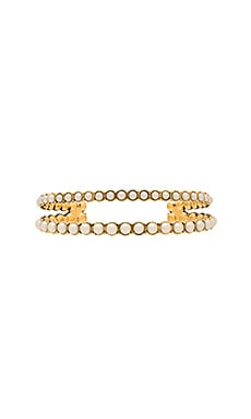 Marc Jacobs Pearl Double Cuff in Cream & Antique Gold
