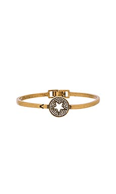 Marc Jacobs Charms Pave Star Delicate Cuff in Crystal & Antique Gold