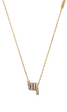 Pave Twisted Pendant Necklace in Crystal & Antique Gold