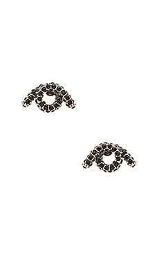 Pave Twisted Single Wrap Stud Earrings