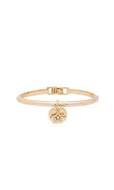 Marc Jacobs MJ Coin Hinge Cuff in Crystal & Gold