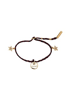 Marc Jacobs MJ Coin Friendship Bracelet in Berry