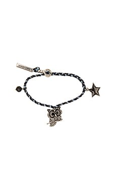 Charms Owl Friendship Bracelet in Blue