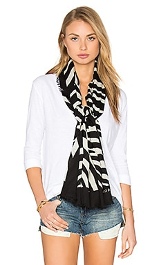 Marc Jacobs Zebra Scarf in Off White Multi